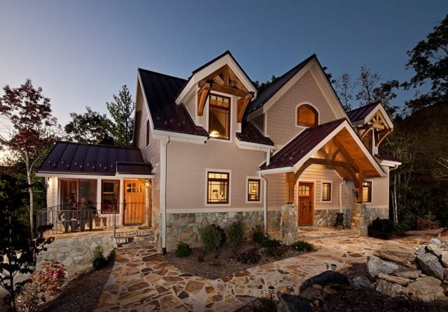 traditional timber frame home style
