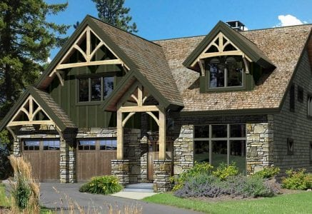 Mountain View timber frame floor plan