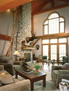Western Inspired Timber Great Room