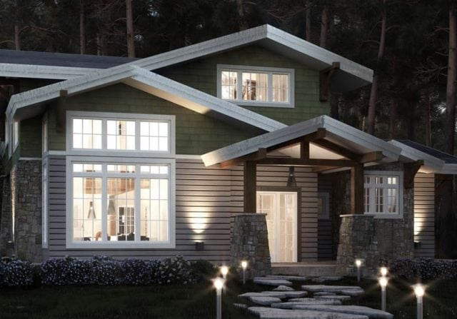 Shattuck craftsman timber floor plan design