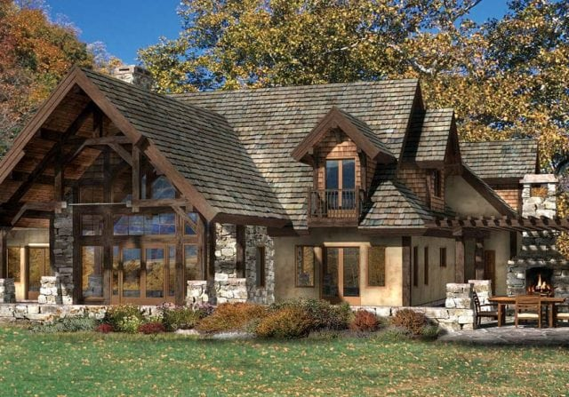 Sonoma Hills timber frame floor plan