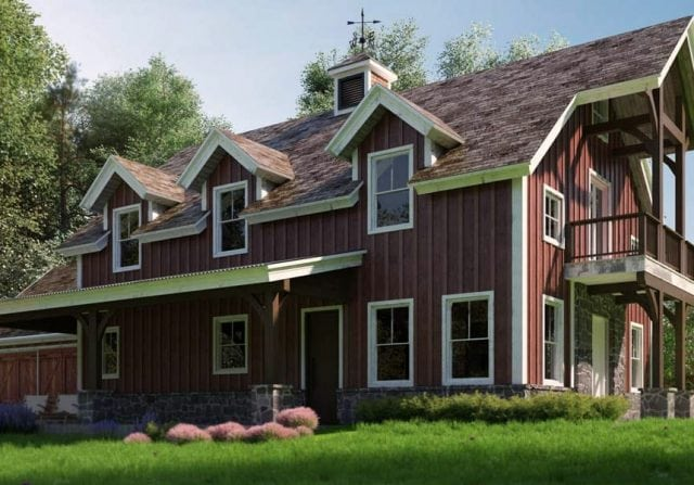 Stafford barn style home design