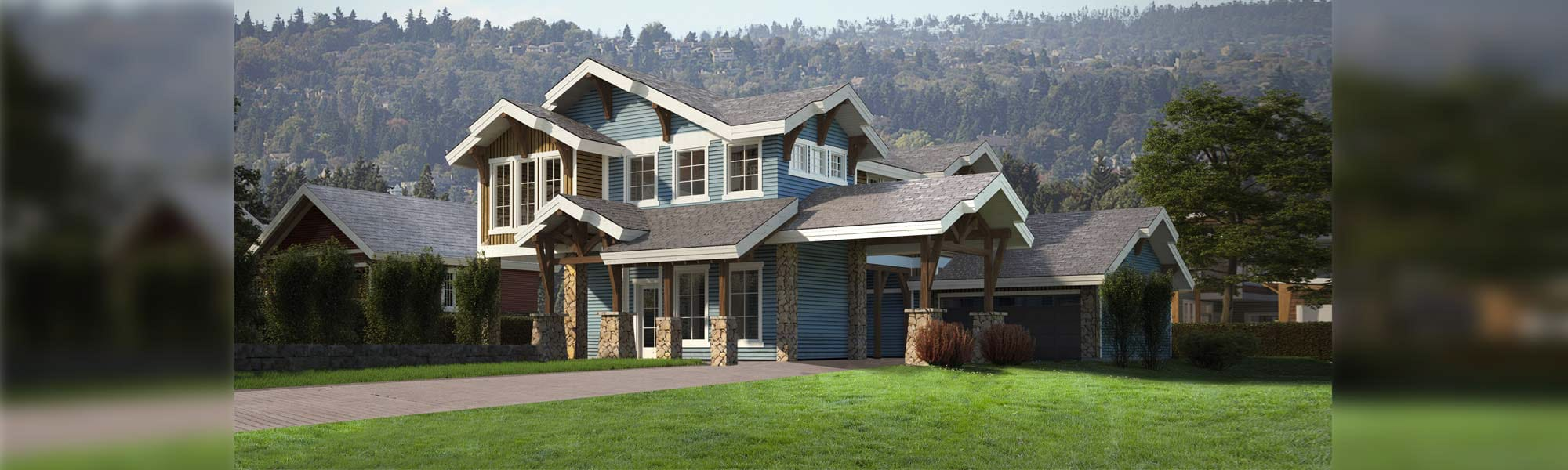 Torrey Pines Craftsman Timber Frame Plan