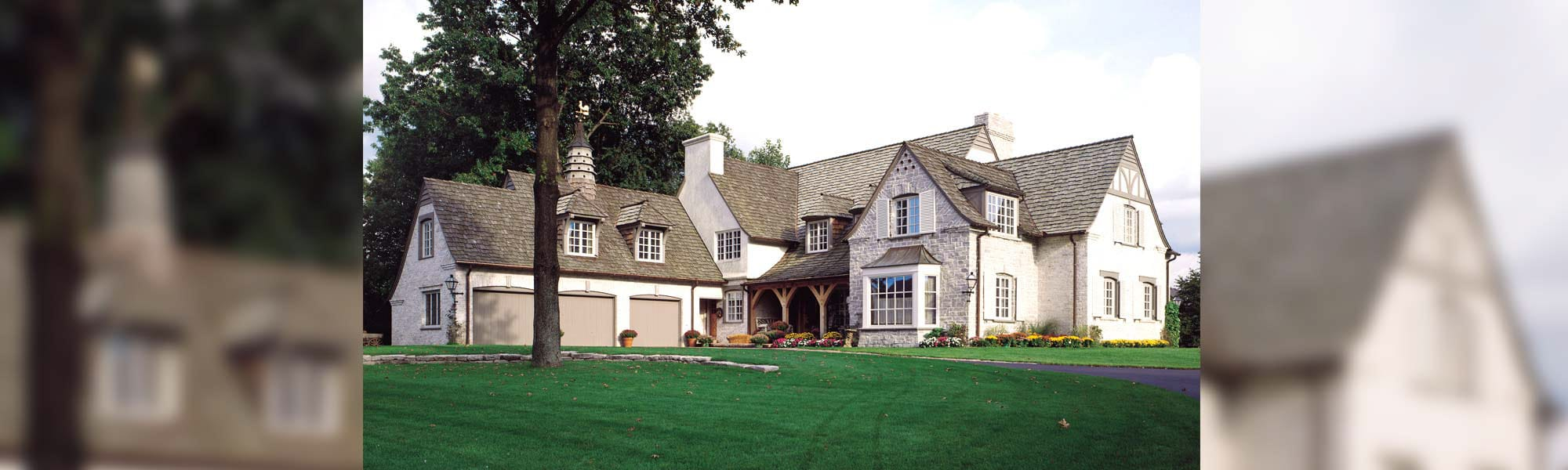 Tuscany french country timber home plan