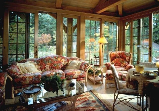timber frame sun room