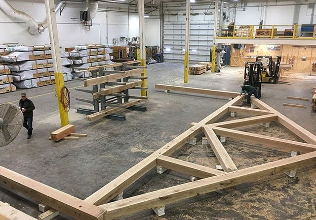 Fabrication - timber frame manufacturing
