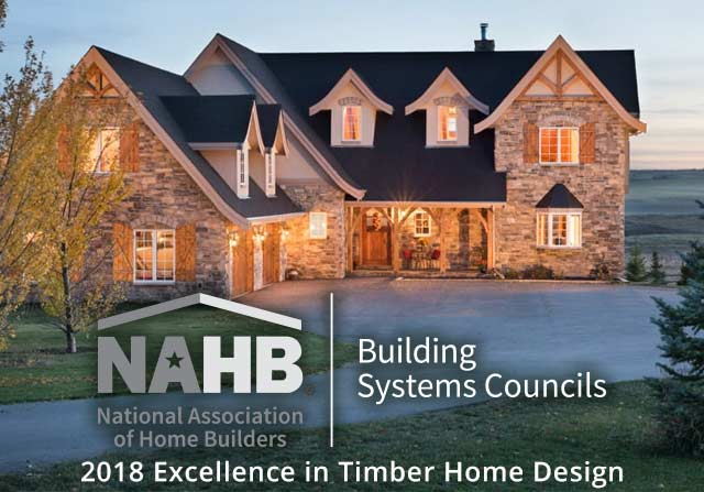 Awards - 2018 NAHB excellence in timber home design