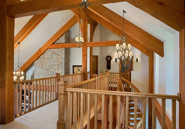 Builders & Architects - timber frame interior detail
