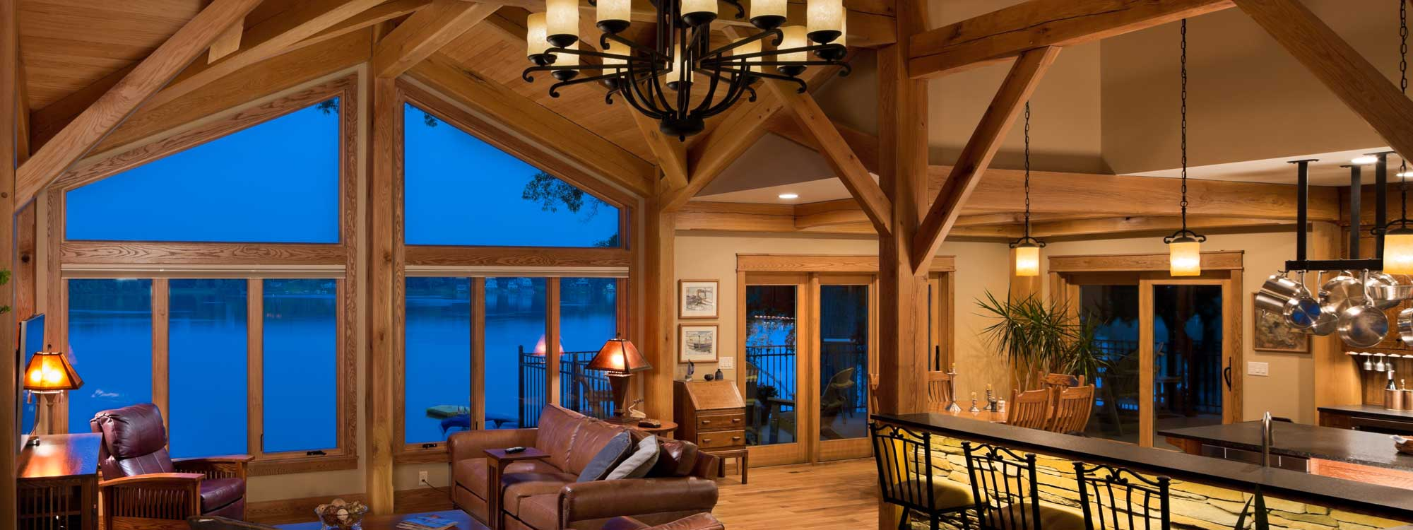 Home - kalamazoo timber frame home interior