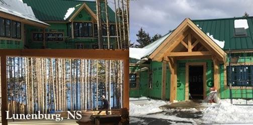 Canada - lunenburg timber frame home construction