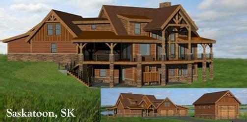 Canada - saskatoon timber frame home rendering