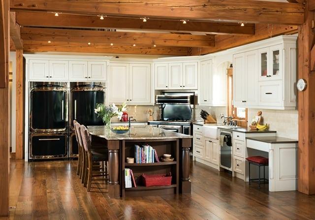 farmhouse inspired timber frame home