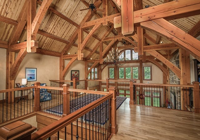 upstairs timber frame home