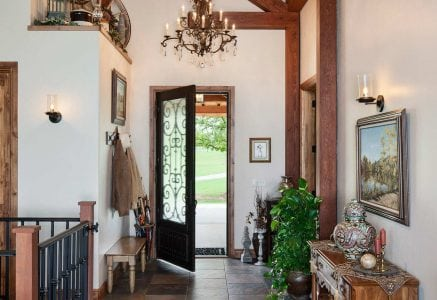 oklahoma-city-entryway - timber frame entry door