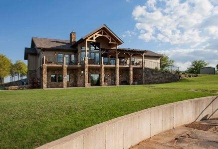 oklahoma-city-exterior-side - timber frame home exterior