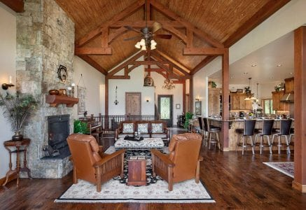 oklahoma-city-great-room-in - timber frame great room oklahoma