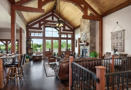 oklahoma-city-great-room - timber frame great room