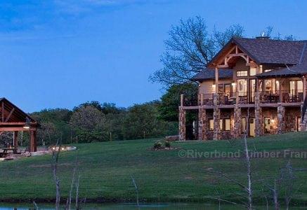 Oklahoma Timber Frame Home Photo