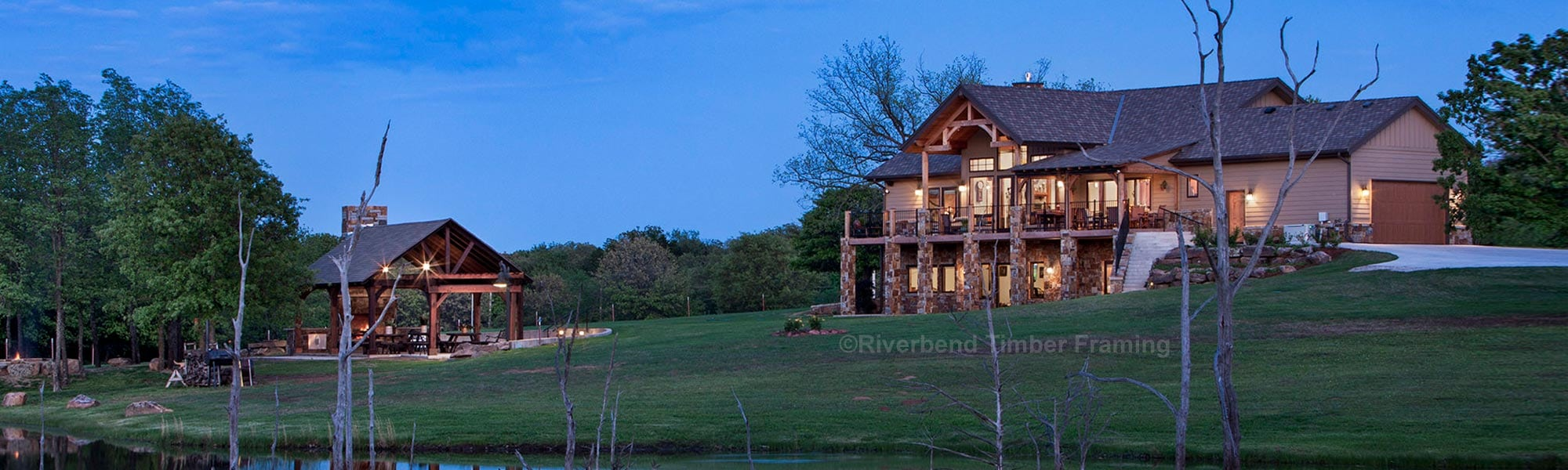 Oklahoma Timber Frame Home Photo