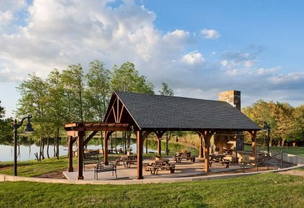 oklahoma-city-timber-pavilion - timber frame pavillion
