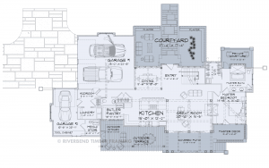 Villa del Marche - Villa del Marche main floor plan