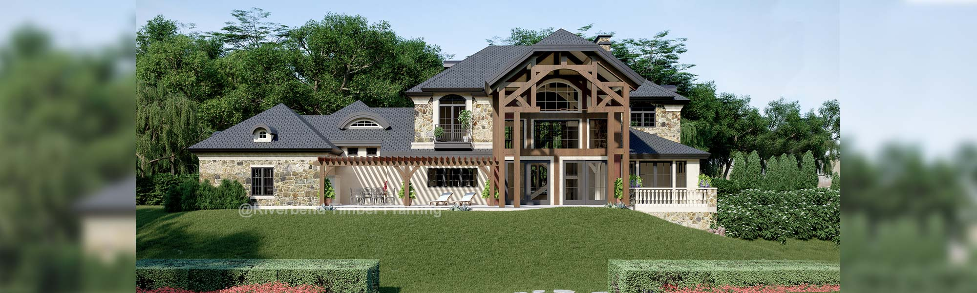 Villa del Marche French Country Timber Home