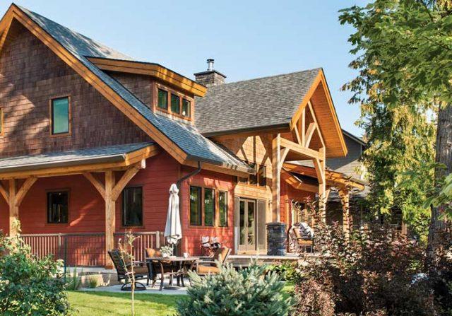 Canada Timber Frame Home Riverbend