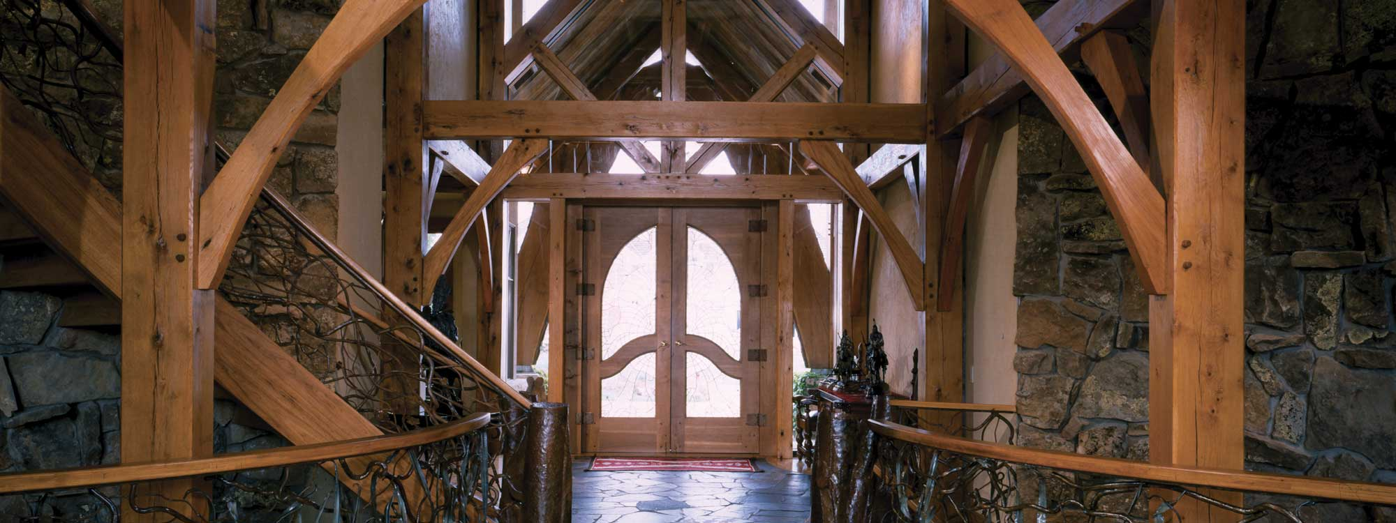 Home - Timber frame entry