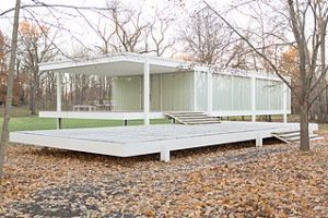 modern home designed by mies van der rohe