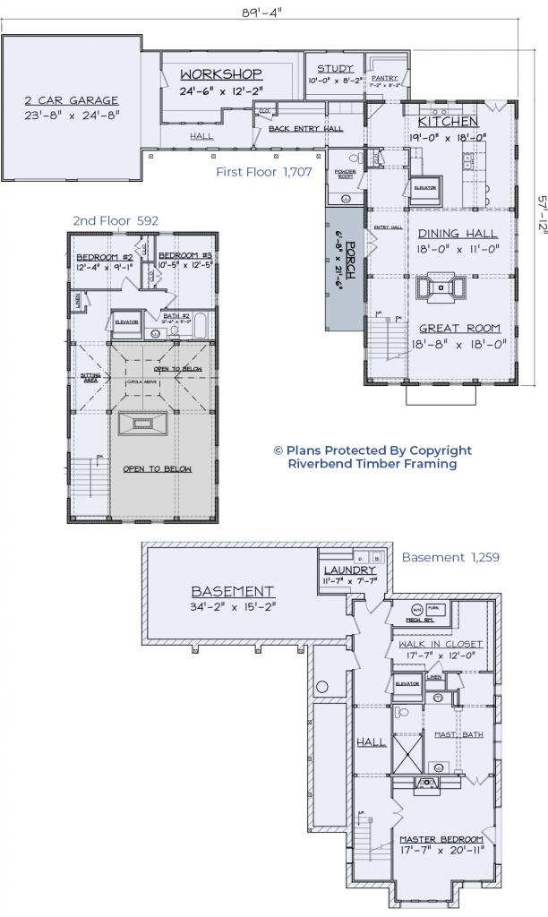 barn home floor plan