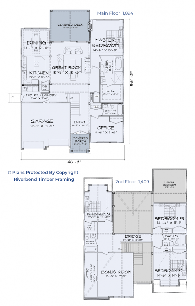 timber frame home floor plan