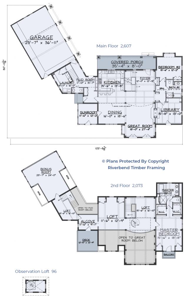 floor plan timber frame home