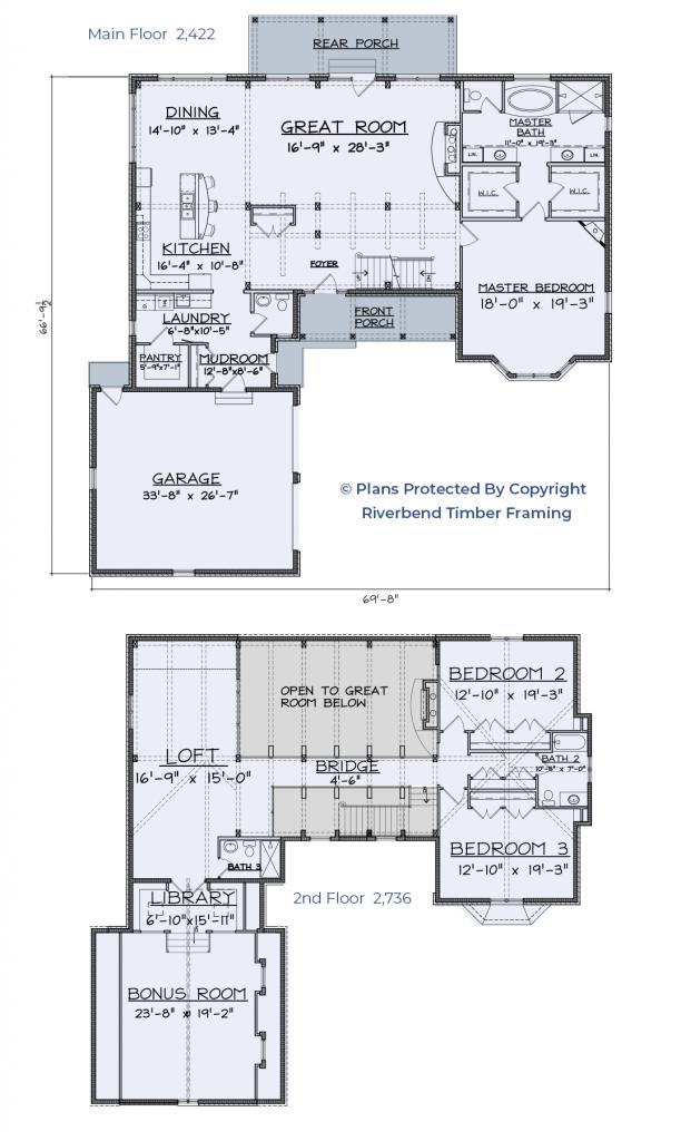 european style floor plan