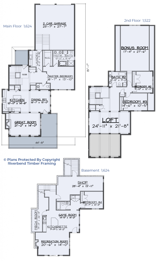 lake home timber frame floor plan
