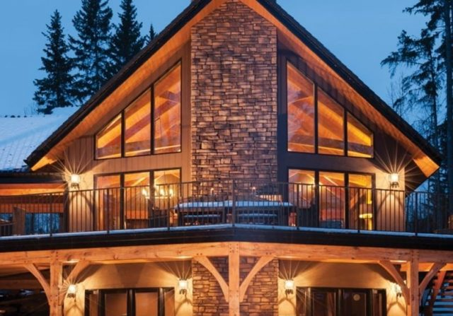 choosing mountain style architecture is not uncommon in the west