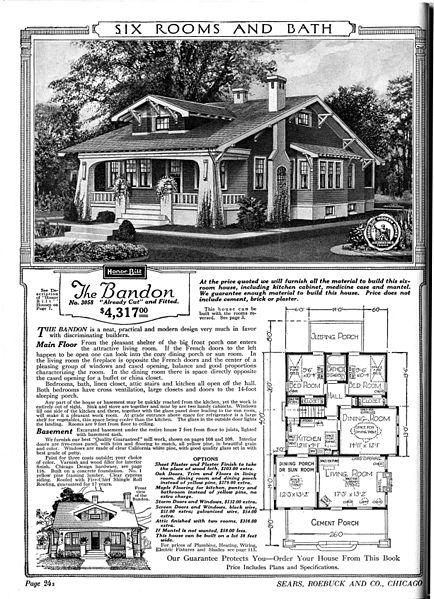 1920 sears catalog page of a house