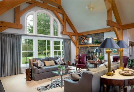 Marysville-great-room - timber frame great room Ohio