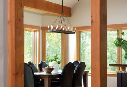prince-george-dining-room - timber frame dining room