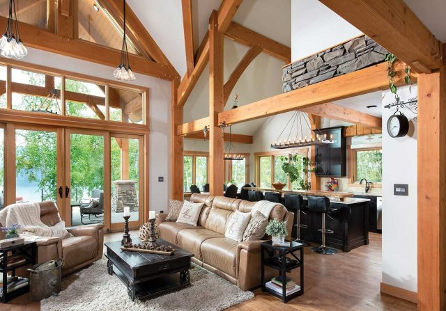 great room timber framing