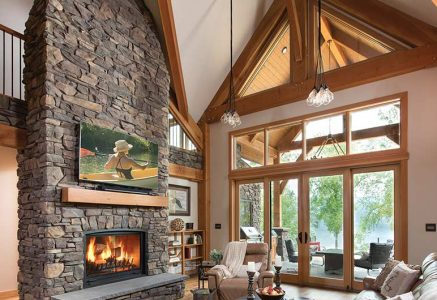 prince-george-great-room-vert - timber frame great room fireplace