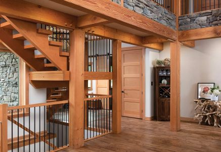 prince-george-stairs - timber frame staircase