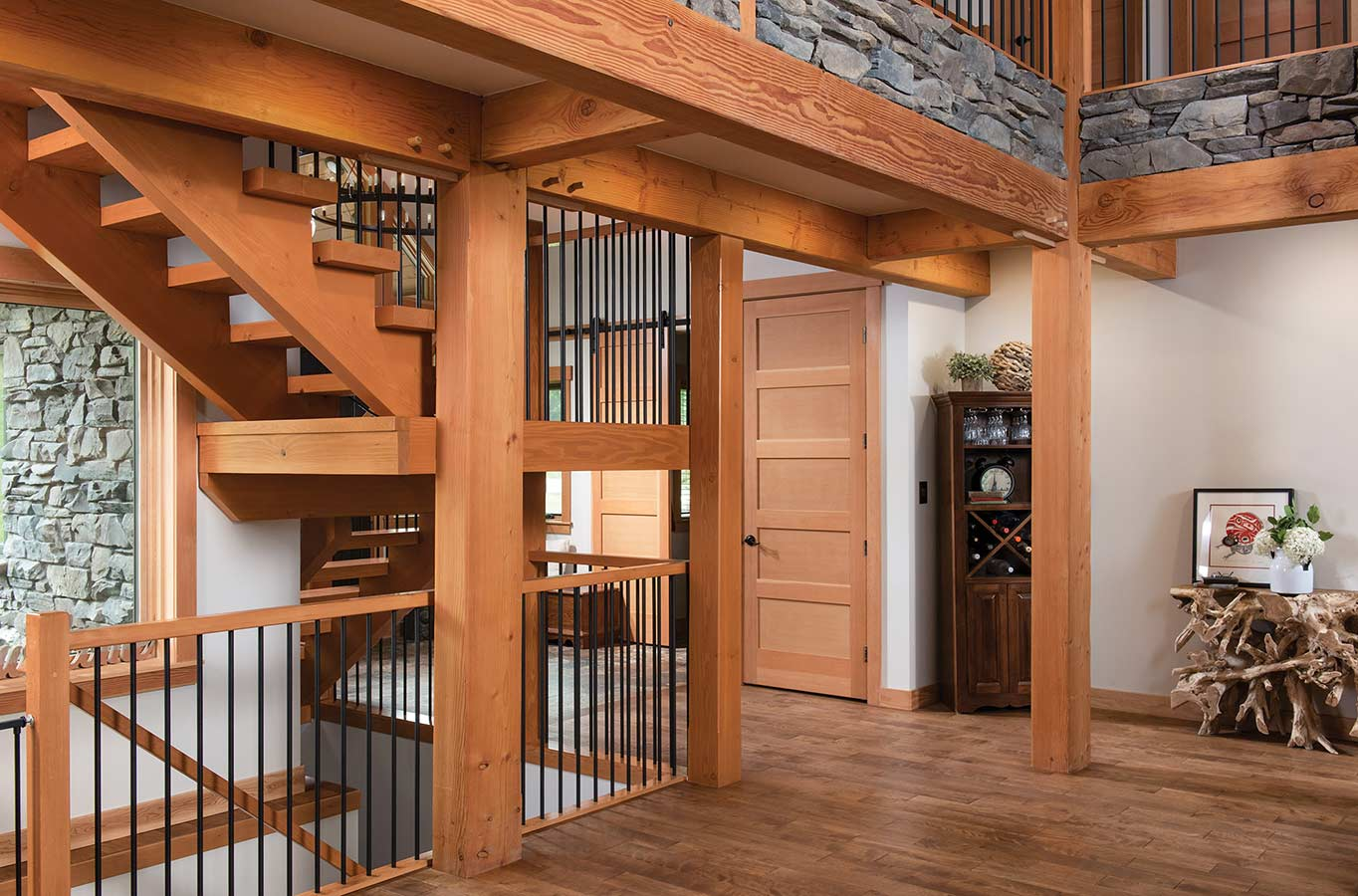 timber frame staircase