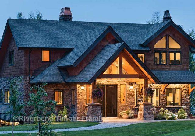 British Columbia timber frame cottage