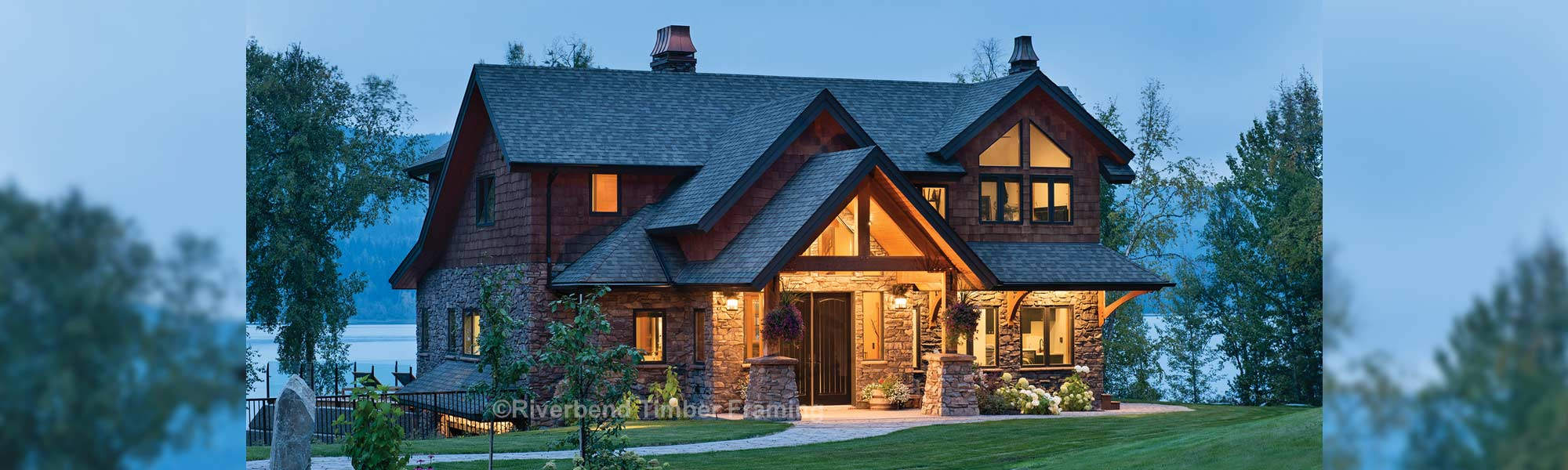 British Columbia timber frame cottage