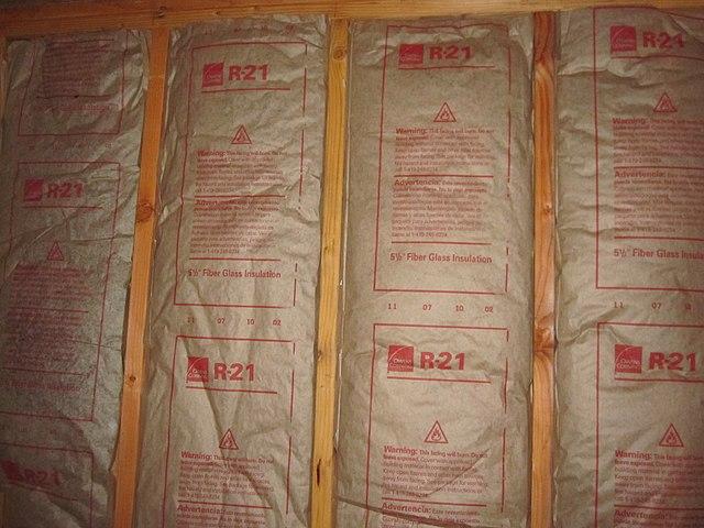 fiberglass insulation in a home