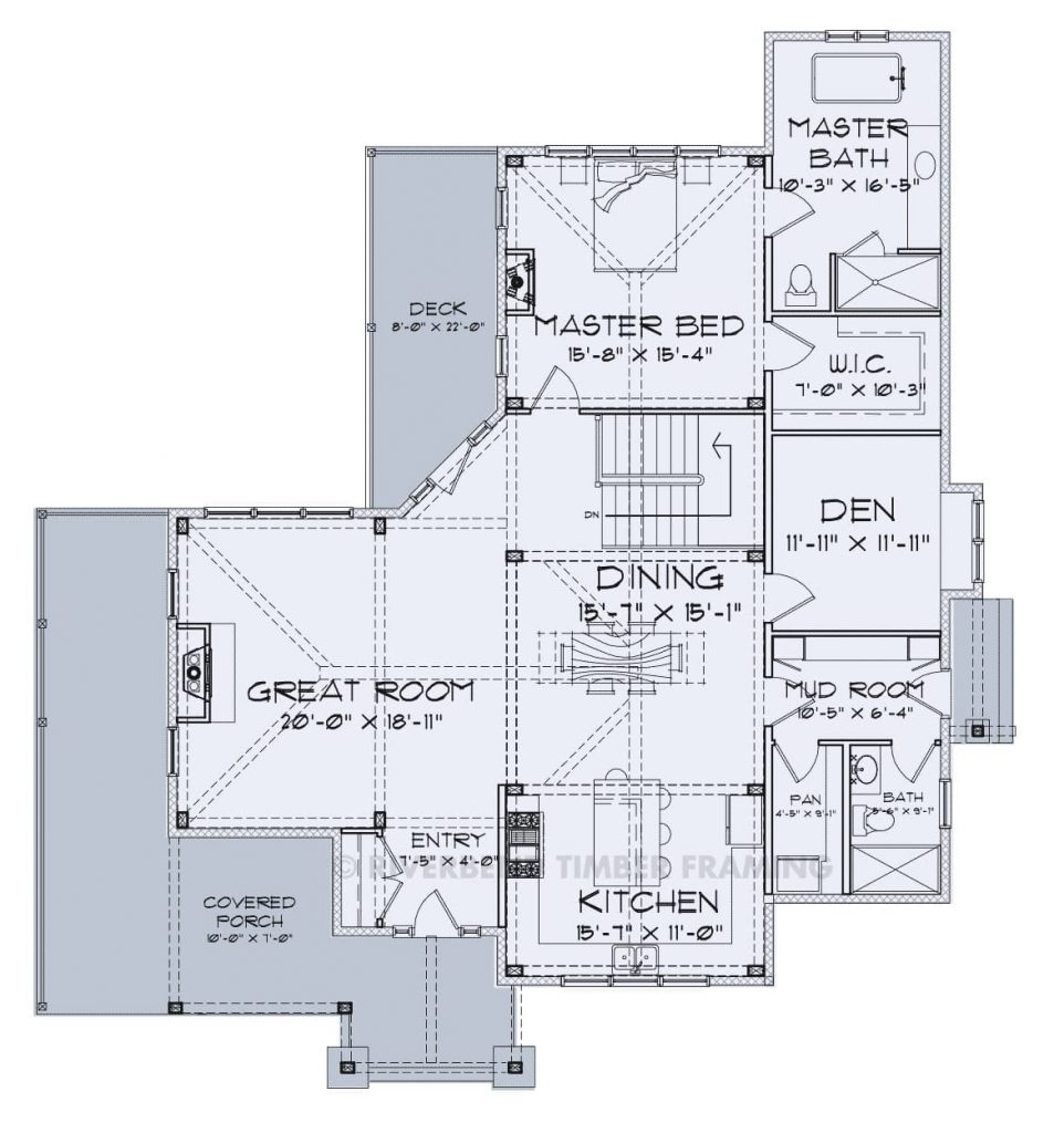 floor plan showing bath design
