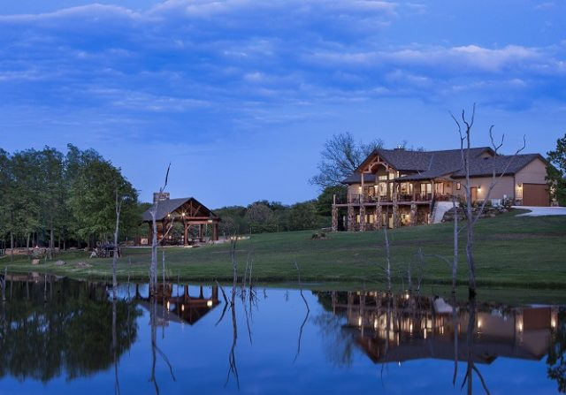 timber frame home in oklahoma