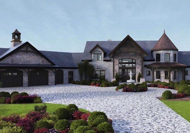european style home rendering