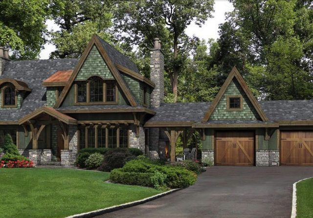 european style timber home by riverbend