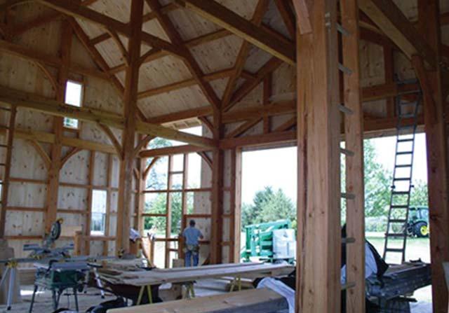 Custom Timber Framing - Timber Frame Barn